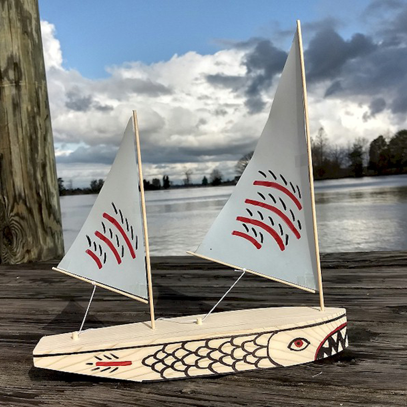 SHARPIE 12″ Two-Masted Sailboat