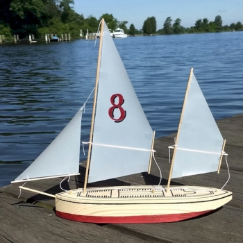 LOG CANOE 14″ Two-Masted Sailboat